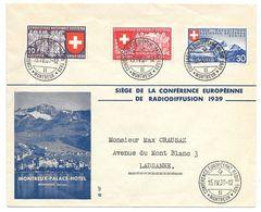 Schweiz Suisse 1939: Zu 225-7 Mi 341-3 Yv 323-5 O CONFERENCE EUROPÈENNE RADIO 15.IY.39 MONTREUX - Suisse
