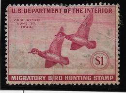 Etats Unis - Migratory Bird Hunting Stamp - 1944 - B - Duck Stamps
