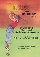 CPM Pirate Carte Pirate (46) FIGEAC 1988 Sport Golf Golfeur  Tirage Limité  Illustrateur J.C. SIZLER - Collector Fairs & Bourses