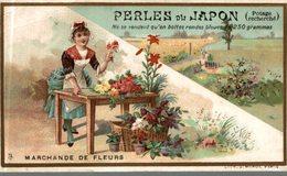CHROMO PERLES DU JAPON MARCHANDE DE FLEURS - Autres