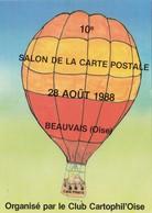 CPM Pirate Carte Pirate (60) BEAUVAIS 1988 Aérostation Ballon Tirage Limité Signée Illustrateur J.C. SIZLER - Collector Fairs & Bourses