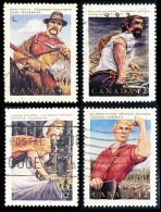 Canada (Scott No.1432-35 - Folklore Canadiens / Canadian Folklore) (o) Série / Set - 1952-.... Règne D'Elizabeth II