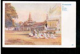 BURMA/ MYANMAR Worshippers At Pagan Ca 1920 OLD POSTCARD 2 Scans - Myanmar (Burma)