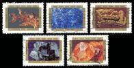 Canada (Scott No.1436-40 - Mineraux / Minerals) (o) Série / Set - 1952-.... Règne D'Elizabeth II