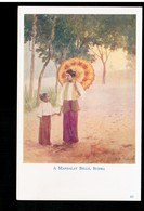 BURMA/ MYANMAR A Mandalay Belle Ca 1920 OLD POSTCARD 2 Scans - Myanmar (Burma)