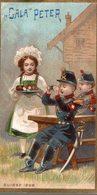 CHROMO CHOCOLAT  SUISSE LE GALA PETER  SUISSE 1868 - Schokolade
