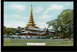 BURMA/ MYANMAR Royal Palace Mandalay Ca 1920 OLD POSTCARD 2 Scans - Myanmar (Burma)