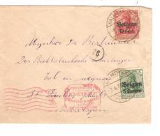 JS569/ Guerre-Oorlog 14-18 TP Oc 2-14 S/L.c.Kalmthout 1918 Censure Abntwerpen V.E/V - WW I