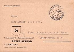 ALLIIERTE BESETZUNG - POSTKARTE TÜBINGEN 1 1947 -GEBÜHR BEZAHLT- - Deutschland