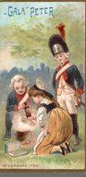 CHROMO CHOCOLAT  SUISSE LE GALA PETER  ALLEMAGNE 1790 - Schokolade