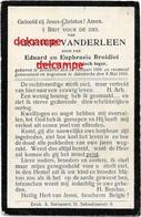 Oorlog Guerre Arthur Vanderleen Bredene Soldaat Gesneuveld Te Kaaskerke Diksmuide 9/ 6/1916 Door Obus Broidioi - Devotion Images