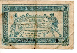 REPUBLIQUE  FRANCAISE  50 Centimes 1917 Série B - 1871-1952 Antichi Franchi Circolanti Nel XX Secolo
