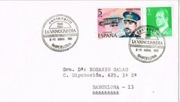 30478. Carta BARCELONA 1981. Centenario LA VANGUARDIA. Viñeta, Label Salon Automovil - 1931-Hoy: 2ª República - ... Juan Carlos I