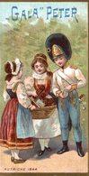 CHROMO CHOCOLAT  SUISSE LE GALA PETER  AUTRICHE 1844 - Schokolade