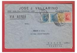 URUGUAY -- MONTEVIDEO -- POSTE AERIENNE -- LETTRE POUR PARIS -- 1931 - Uruguay