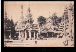 BURMA/ MYANMAR Scene At The Shwe Dagon Pagoda Rangoon  Ca 1910 OLD POSTCARD 2 Scans - Myanmar (Burma)