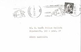 30480. Carta BEGAS (Barcelona) 1990. Salon Alimentaria. Alimentacion - 1931-Hoy: 2ª República - ... Juan Carlos I