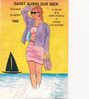 CPM Pirate Carte Pirate (14) St AUBIN Sur MER 1988 Pin-up Lady Girl Tirage Limité Signée Illustrateur J.C. SIZLER - Borse E Saloni Del Collezionismo