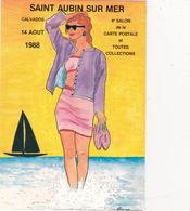 CPM Pirate Carte Pirate (14) St AUBIN Sur MER 1988 Pin-up Lady Girl Tirage Limité Signée Illustrateur J.C. SIZLER - Collector Fairs & Bourses
