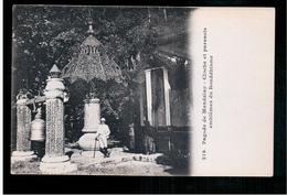 BURMA/ MYANMAR Pagode De Mandalay- Cloche Et Parasols.emblèmes Du Bouddhisme Ca 1910 OLD POSTCARD 2 Scans - Myanmar (Burma)