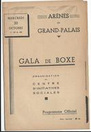 PARIS - Arènes Du Grand-Palais - Gala De Boxe Du 9 Février - 4 Pages  Pub. Dont Loterie Nationale - Programs