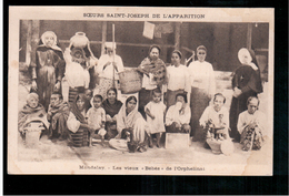 "BURMA/ MYANMAR Mandalay Les Vieux "" Bébés é De L'Orphelinat Ca 1910 OLD POSTCARD 2 Scans - Myanmar (Burma)"