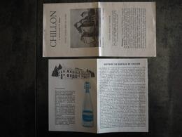 ARKINA YVERDON HISTOIRE DU CHATEAU DE CHILLON - Advertising