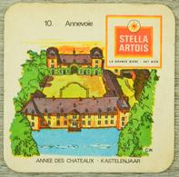 Sous-bock STELLA ARTOIS 10 Annevoie Kastelenjaar Année Des Chateaux Bierdeckel Beermat Bierviltje (CX) - Sous-bocks