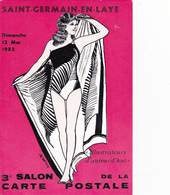 CPM Pirate Carte Pirate (78) St GERMAIN En LAYE 1985 Pin-up Lady Girl Baigneuse Tirage Limité Illustrateur J.C. SIZLER - Collector Fairs & Bourses