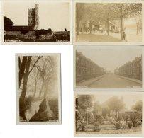 ANGLETERRE  LONDON  SAINT MARGARETS  LOT 5 CARTES ANCIENNES DONT 4 CARTES PHOTOS - London