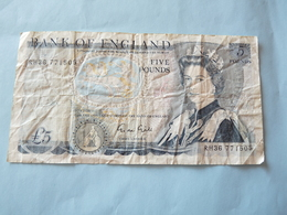 A  Vendre Billet De  5 Pounds A Circuler  Petit Prix De Départ; Billet Remis En Vente Suite à Non Paiement - 1952-… : Elizabeth II