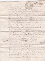 1752 - Règne De Louis XV - Guerre De Religions -  BORDEAUX - Acte Notarié  Quittance - 4 Pages Avec Notes - Manuscripts