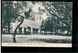 BURMA/ MYANMAR Mawlamyine Babtist Church And Dr Judson's Trees Moulmein Ca 1920 OLD POSTCARD 2 Scans - Myanmar (Burma)