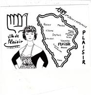 CPM Pirate Carte Pirate (78) PLAISIR 1989 Pin-up Lady Carte Départementale Tirage Limité Illustrateur J.C. SIZLER - Collector Fairs & Bourses