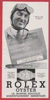 """Montre Rolex. Visuel De Sir Malcom Campbell, Recordman De  Vitesse Sur L' """"Oiseau Bleu"""". 1930. - Publicités"""