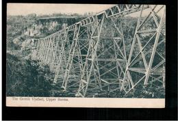 BURMA/ MYANMAR The Goteik Viaduct, Upper Burma Ca 1910 OLD POSTCARD 2 Scans - Myanmar (Burma)