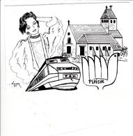 CPM Pirate Carte Pirate (78) PLAISIR 1990 Pin-up T.G.V. Eglise Tirage Limité Illustrateur J.C. SIZLER - Collector Fairs & Bourses