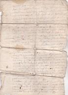 Manuscrit En Français à Identifier Et Dater - 4 Pages Dont 2 Avec 1/8e De Surface En Moins... Vendu En L'état - Manuscripts