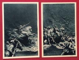 GARIBALDI A ROMA 1849 E MONTEVIDEO NELLE SCULTURE DI MASTROIANNI - Cartoline