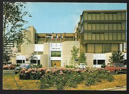 Cpm 9518597 Garges Les Gonesse Hotel De Ville , Renault 4 L, 504 Peugeot,  Simca - Garges Les Gonesses