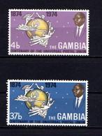 GAMBIA    1974    Centenary  Of  U P U    Set  Of  2    MNH - Gambia (1965-...)