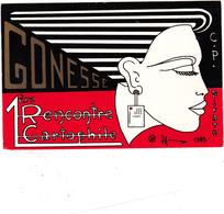 CPM Pirate Carte Pirate (95) GONESSE 1985 Femme Lady Style Art Déco Tirage Limité Illustrateur P. HAMM - Collector Fairs & Bourses