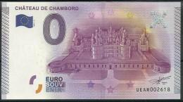 Billet Touristique 0 Euro 2015 : Château De Chambord Vue Aérienne épuisé - Essais Privés / Non-officiels