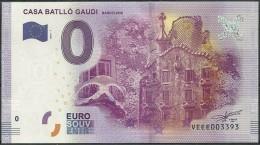 Billet Touristique 0 Euro 2016  CASA BATLLO GAUDI  Barcelone - EURO
