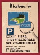 FILATELIA RICCIONE 80 XXXII FIERA INTERNAZIONALE DEL FRANCOBOLLO  CARTOLINA N.V. - Cartoline