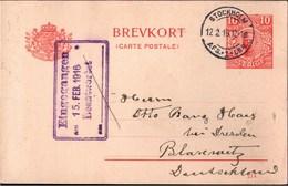 ! 14 Ganzsachen Schweden, Sweden, 1912-1920, Entomologie, Dresden Blasewitz, Autographen - Entiers Postaux