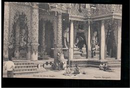 BURMA/ MYANMAR Shrine On Shwe Dagon  Pagoda Rangoon Ca 1920 OLD POSTCARD 2 Scans - Myanmar (Burma)