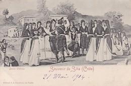 GRECE / CRETE / SOUVENIR DE SITIA / NON DIVISEE  1904 - Grèce