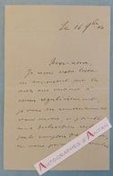 Château De Genillé - 1904 - Signature De La Motte Saint Pierre - Indre Et Loire 37 - Lettre Autographe - Autographs