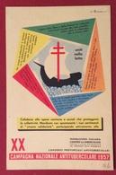 XX CAMPAGNA NAZIONALE ANTITUBERCOLARE 1957 CARTOLINA N.V. - Cartoline
